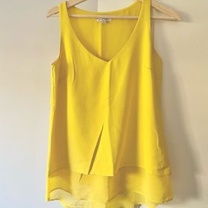 Target Yellow V-neck Tank Top Size 6 Small Blouse
